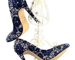 wedding shoes navy navy bridal shoes etsy