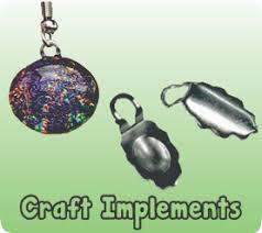 craft implements 10mm ornament cap loop set silver 10mm ornament