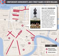 Battle Of New Orleans Map by Confederate New Orleans An Interactive Monument And Street Map