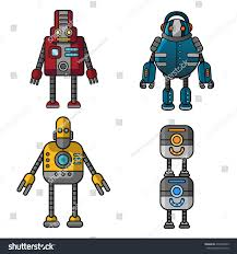 robot character steampunk style stock vector 470403443 shutterstock