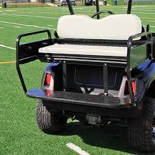 e z go rxv rear seat utility box golf cart rear seat kit flip