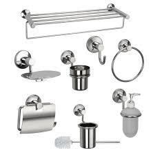 jwell 8 pc stainless steel bathroom accessories set sigma series