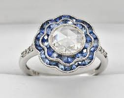 Sapphire Wedding Rings by Vintage Sapphire Engagement Ring Etsy