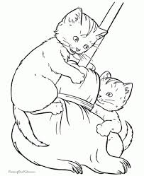 cat coloring pages free and printable throughout elegant printable