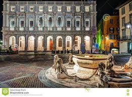 piazza vecchia citta alta bergamo italy stock photo image