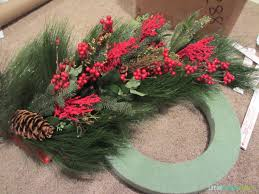 winter wreath made from clearance garland life on virginia street