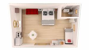 Studio Floor Plan by Studio Unit For Budget Holiday Or Short Stay Accommodation In