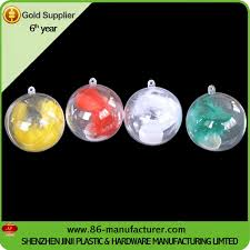 sublimation decoration ornaments plastic open balls
