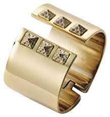 rhinestone cuff bracelet images Victoria 39 s secret gold stud rhinestone cuff bracelet tradesy jpg
