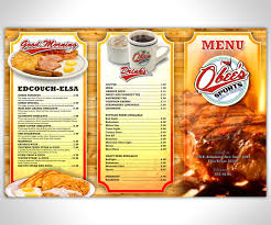 elegant playful menu design for obed ribera by nurmaili design