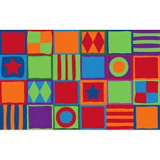 Squares Area Rug Kid Carpet Patterned Squares Area Rug Reviews Wayfair