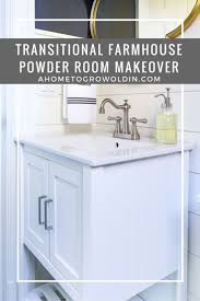 Powder Room Makeover Ideas Powder Room Makeover Reveal Transitional Farmhouse Style