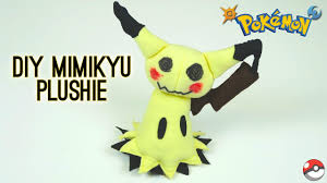 make your own plush diy mimikyu plushie how to make your own