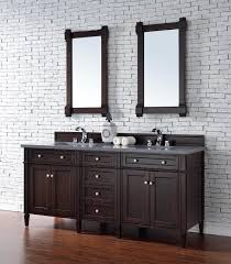contemporary 72 inch double sink bathroom vanity burnished