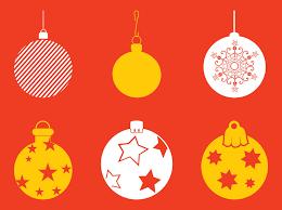 christmas baubles set vector art u0026 graphics freevector com