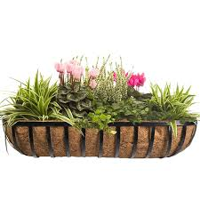 Porch Rail Flower Boxes by Beautiful Metal Planters For Wall Decoration Strong And Stable
