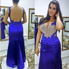 royal blue prom dresses royal blue prom dress silver beaded formal