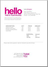 cool invoice template invoices templates foxy media invoice cool