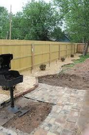 fence line landscaping my backyard pinterest landscaping