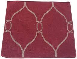 door mat rug with moroccan pattern in red u2013 hand woven mat in