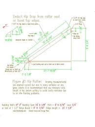 Hip Roof Measurements 12x12 Pitch Hip Roof Framing Plans By Vance Hester Designs