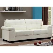 cuir canapé canapé 3 places en cuir hazel ivoire achat vente canapé sofa