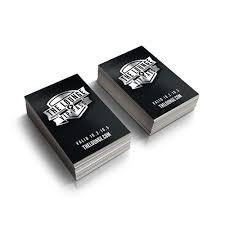 silk laminated foil business cards 16pt clash graphics