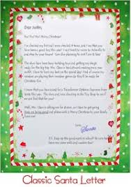letters from santa claus personalized letter from santa claus