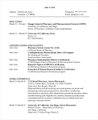 Intern Responsibilities Resume Ideas Collection Pharmacy Intern Resume Sample In Sample Proposal