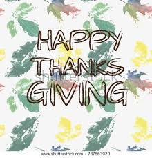 background thanksgiving day phrase happy thanksgiving stock vector