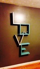 Home Decor Made From Pallets 400 Best Pallet Shelves Images On Pinterest Pallet Ideas Pallet