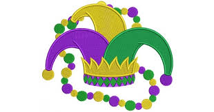 mardi gras joker mardi gras jester hat with filled machine embroidery design digitized pattern 600x315 jpg