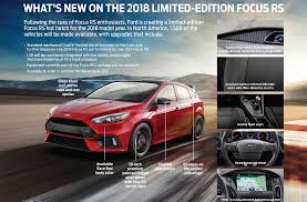 ford focus model years limited edition 2018 ford focus rs marks the end of the line