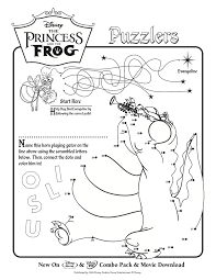Disney Coloring Pages Princess And The Frog Sheets