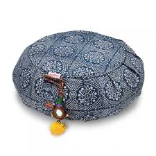 sari pattern zafu meditation cushion zafu meditation cushion navy bandhani chattra yoga accessories