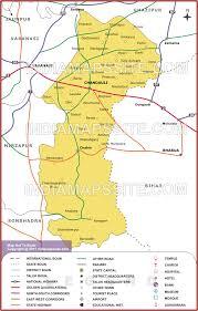 road map up chandauli road map map of chandauli road