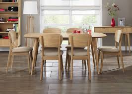 Retro Dining Room Oak Extending Dining Table With 8 Dining Chairs