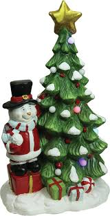 northlight morning pre lit led tree with santa snowman