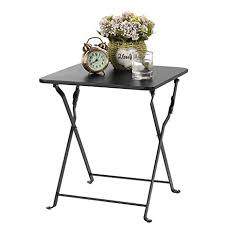 Metal Tray Coffee Table Finnhomy Small Square Folding Side End Table Sofa