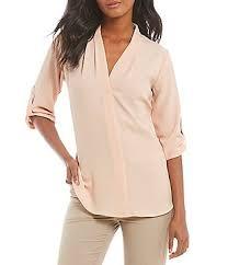 calvin klein blouses calvin klein pink s casual dressy tops blouses dillards