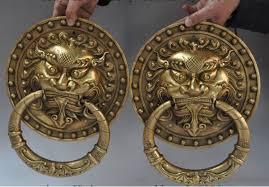 foo dog lion ymying 1020 12 china fengshui brass fu foo dog lion bat