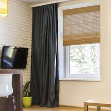 Dark Brown Roman Blinds Bamboo Shades U0026 Natural Shades Shades The Home Depot