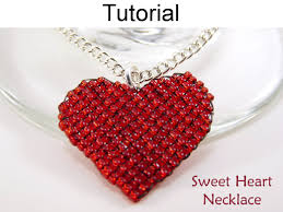 heart bead necklace images Beading tutorial pattern necklace pendant valentines heart JPG