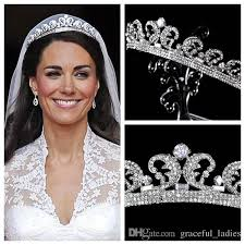 wedding accessories kate middleton tiaras hair accessories rhinestone crowns