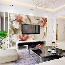 custom 3d photo wallpaper for walls 3d relief lily stylish see larger image