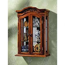 Mission Style Curio Cabinet Plans Amazon Com Display Cabinet Beacon Hill Wall Mounted Curio