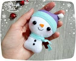 christmas ornaments felt snowman ornament christmas