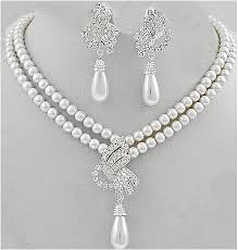 white pearls necklace designs images Malar world pearl necklace designs jpg