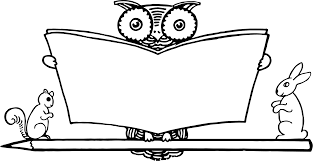 clipart reading owl
