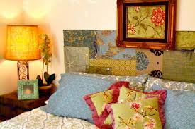 bohemian style home decor fancy nuance at contemporary bedroom which is decorated by